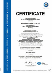 ISO 9001 Certificate HZM